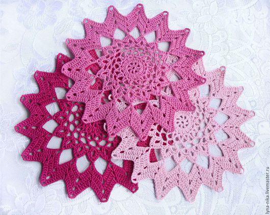 """Текстиль, ковры ручной работы. Ярмарка Мастеров - ручная работа. Купить Набор салфеток """"Blossom"""". Handmade. Комбинированный, разноцветные салфетки"""
