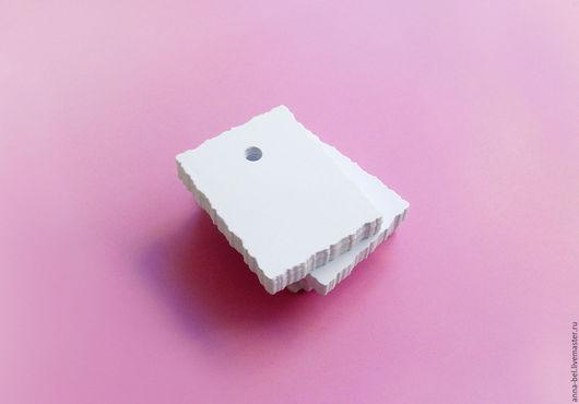 Упаковка ручной работы. Ярмарка Мастеров - ручная работа. Купить белые мини-бирки. Handmade. Этикетка, бирки, оформление