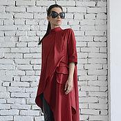 Одежда ручной работы. Ярмарка Мастеров - ручная работа Длинная рубашка, рубашка из хлопка. Handmade.