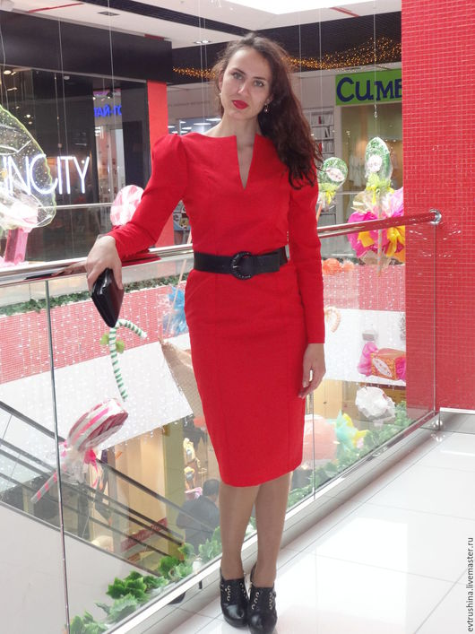 """Платья ручной работы. Ярмарка Мастеров - ручная работа. Купить Платье 46 размера """"Огненный цветок"""". Handmade. Ярко-красный"""