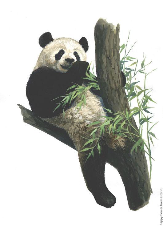 """Животные ручной работы. Ярмарка Мастеров - ручная работа. Купить Акварель """"Панда"""".. Handmade. Чёрно-белый, панда, животные акварелью"""