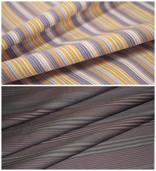 Шитье ручной работы. Ярмарка Мастеров - ручная работа. Купить Блузочная ткань  в  полоску. Handmade. Серый, блузочная ткань
