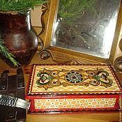 Для дома и интерьера ручной работы. Ярмарка Мастеров - ручная работа Шкатулка-купюрница в древнерусском стиле. Handmade.