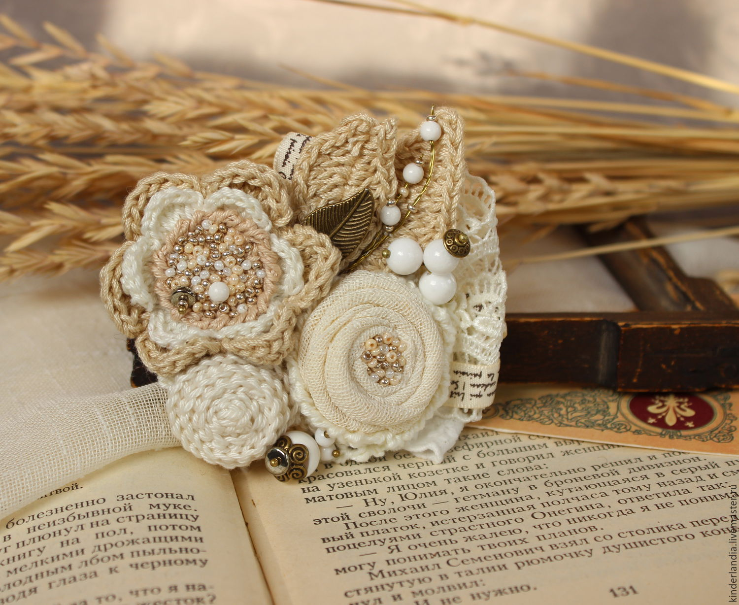 Brooch textile Letters of endearment, Brooches, St. Petersburg,  Фото №1