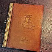Канцелярские товары ручной работы. Ярмарка Мастеров - ручная работа Папка меню для корейского ресторана. Handmade.