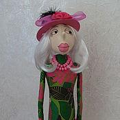 Куклы и игрушки ручной работы. Ярмарка Мастеров - ручная работа Кукла текстильная мадам Крошкина.. Handmade.