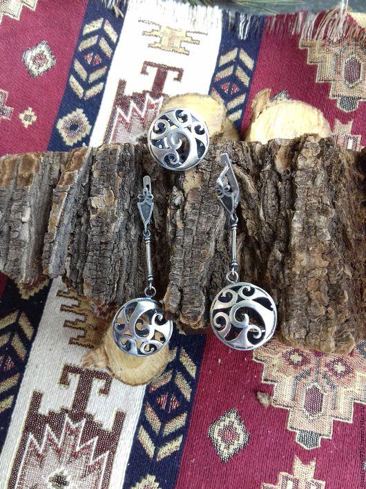 Комплекты украшений ручной работы. Ярмарка Мастеров - ручная работа. Купить Серебряный комплект 925 Этнический стиль № 8. Handmade.