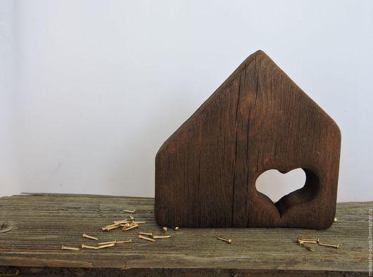 Персональные подарки ручной работы. Ярмарка Мастеров - ручная работа. Купить Домик для сердца. Handmade. Коричневый, антикварный, лофт