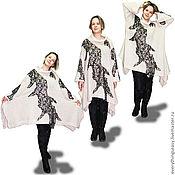 Одежда ручной работы. Ярмарка Мастеров - ручная работа АБСТРАКЦИЯ платье туника шерсть. Handmade.