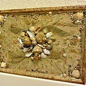 """Картины и панно ручной работы. Ярмарка Мастеров - ручная работа Панно """"Песчаный берег"""". Handmade."""