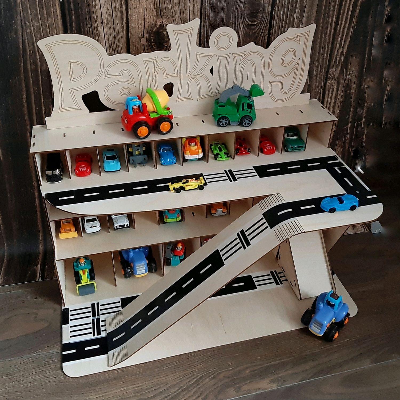 Маленький гараж Парковка стоянка для машинок игрушка, Техника роботы транспорт, Сергиев Посад,  Фото №1