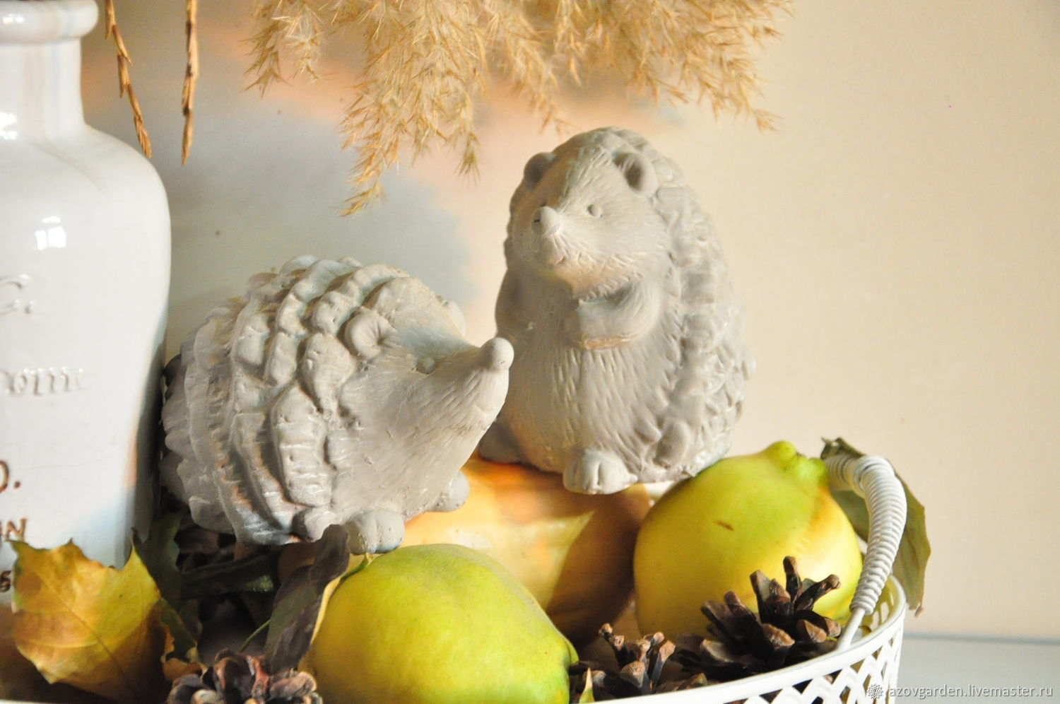 hedgehogs of concrete for decorative interiors and gardens of Provence, Country, Figurines, Azov,  Фото №1