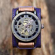 ручной работы. Ярмарка Мастеров - ручная работа Кожаные наручные часы Fial. Handmade.