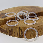 Украшения handmade. Livemaster - original item Thin ring chalcedony 17.5 p.. Handmade.