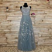 Одежда handmade. Livemaster - original item Evening dress with silver birds. Handmade.