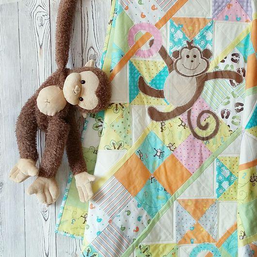 Лоскутное покрывало Озорные обезьянки