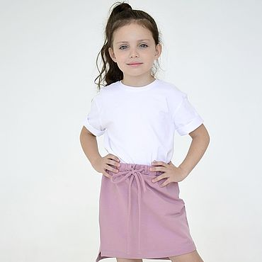 Одежда ручной работы. Ярмарка Мастеров - ручная работа Детская базовая трикотажная футболка белая. Handmade.