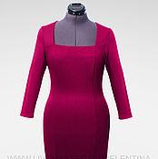 Одежда ручной работы. Ярмарка Мастеров - ручная работа Платье футляр, платье фуксия, офисное платье, повседневное платье. Handmade.
