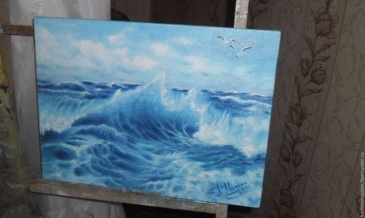 Пейзаж ручной работы. Ярмарка Мастеров - ручная работа. Купить картина маслом морской пейзаж. Handmade. Комбинированный, масляная живопись