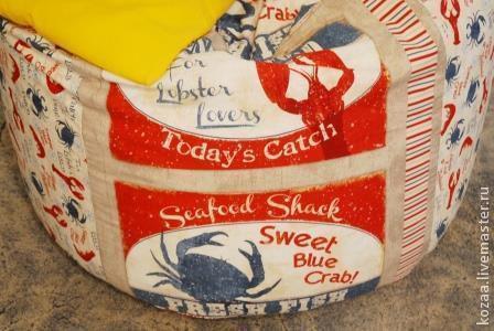 """Мебель ручной работы. Ярмарка Мастеров - ручная работа. Купить Кресло-мешок """"Crabs & Lobsters"""". Handmade. Kozaasbags, море"""