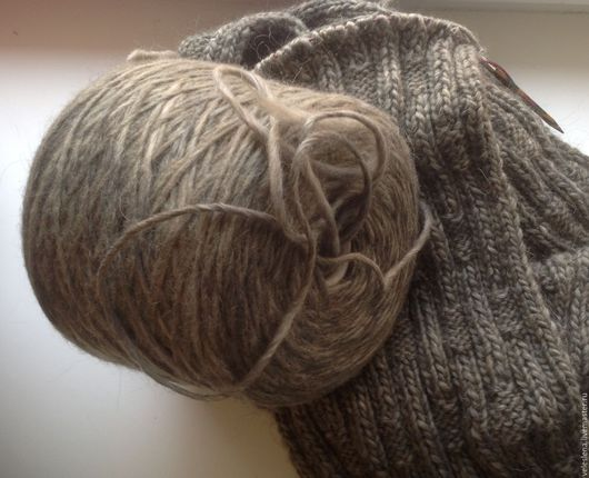 Вязание ручной работы. Ярмарка Мастеров - ручная работа. Купить Пряжа Andino (Италия). Handmade. Серый, пряжа для вязания спицами