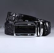 Аксессуары handmade. Livemaster - original item Crocodile leather belt IMA3051B. Handmade.