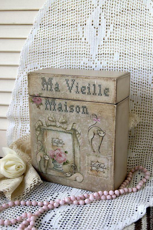 """Корзины, коробы ручной работы. Ярмарка Мастеров - ручная работа. Купить Короб """"Ma Vieille Maison"""". Handmade. Бежевый"""
