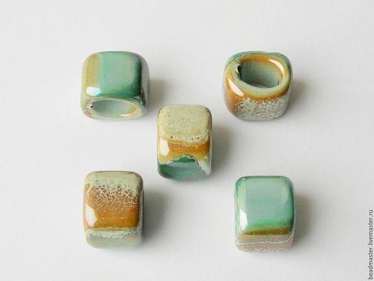Для украшений ручной работы. Ярмарка Мастеров - ручная работа. Купить Бусина керамическая Регализ (БКР60). Handmade. Зеленый, регализ