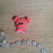 Мягкие игрушки ручной работы. Ярмарка Мастеров - ручная работа Магнитики вязаные в ассортименте. Свинка, мишка, собачка вязаные. Handmade.