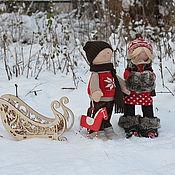 Куклы и игрушки ручной работы. Ярмарка Мастеров - ручная работа Новогодняя история:Герда и Кай. Handmade.