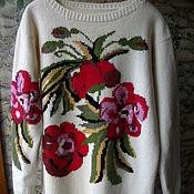 Одежда ручной работы. Ярмарка Мастеров - ручная работа Платье вязаное с цветами. Handmade.