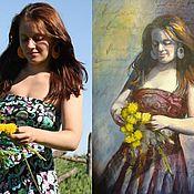 """Картины и панно ручной работы. Ярмарка Мастеров - ручная работа Портрет с фотографии """"Романтик"""" (портрет по фотографии). Handmade."""