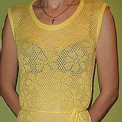 """Одежда ручной работы. Ярмарка Мастеров - ручная работа пляжное платье """"Ромашки"""". Handmade."""