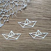 Материалы для творчества handmade. Livemaster - original item !Cutting for scrapbooking - BOAT origami, diz cardboard. Handmade.