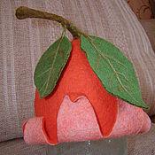 """Для дома и интерьера ручной работы. Ярмарка Мастеров - ручная работа Шапка для сауны """"Апельсинка"""". Handmade."""