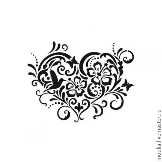 арт 326  сердце. цветы  2/0