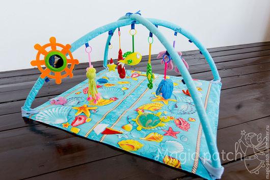 """Развивающие игрушки ручной работы. Ярмарка Мастеров - ручная работа. Купить Развивающий коврик """"На дне морском"""". Handmade. синтепон"""