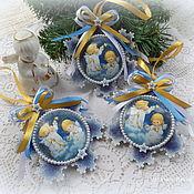 """Подарки к праздникам ручной работы. Ярмарка Мастеров - ручная работа Новогоднее елочное украшение """"Рождественская звезда"""". Handmade."""