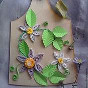 Для дома и интерьера ручной работы. Ярмарка Мастеров - ручная работа Разделочная доска цветики. Handmade.