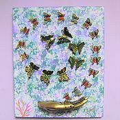 Картины и панно handmade. Livemaster - original item Butterflies in flight Butterflies decorative Butterflies on the wall. Handmade.