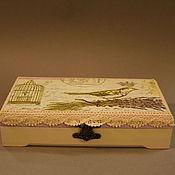 """Подарки к праздникам ручной работы. Ярмарка Мастеров - ручная работа """"Птица счастья"""" Шкатулка для украшений. Handmade."""
