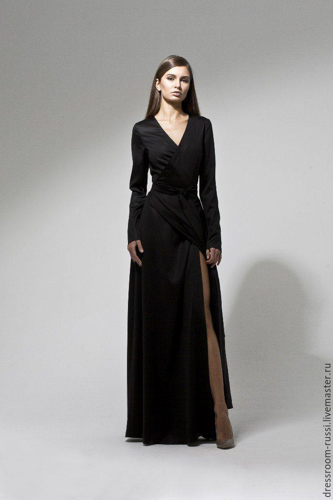 Черное платье в пол купить в москве