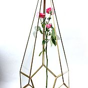 Свадебный салон handmade. Livemaster - original item Golden Floriana. candle holder. Drop high. Design wedding. Handmade.
