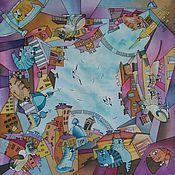 Аксессуары ручной работы. Ярмарка Мастеров - ручная работа Платок Питерские Коты. Handmade.