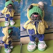 Куклы и игрушки ручной работы. Ярмарка Мастеров - ручная работа котик тильда вязаный. Handmade.