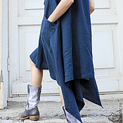 Одежда ручной работы. Ярмарка Мастеров - ручная работа Сарафан льняной. Handmade.