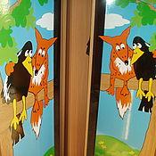 Для дома и интерьера ручной работы. Ярмарка Мастеров - ручная работа декор шкафа для детской. Handmade.