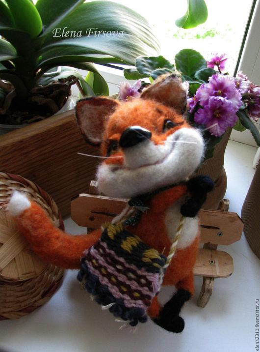 Игрушки животные, ручной работы. Ярмарка Мастеров - ручная работа. Купить Лисичка. Handmade. Рыжий, украшение для интерьера, валяная кукла