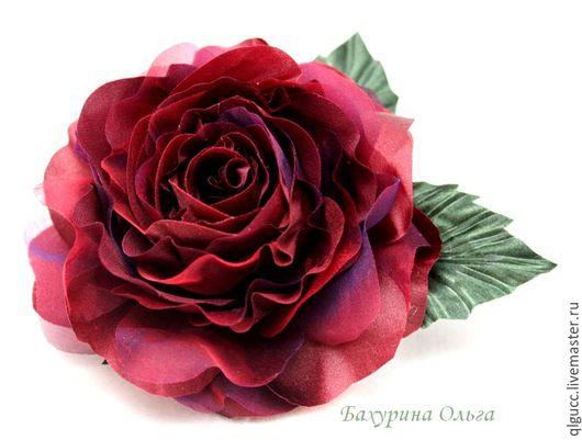 Броши ручной работы. Ярмарка Мастеров - ручная работа. Купить Цветы из шёлка.Роза Николь(различные цвета). Handmade. Комбинированный