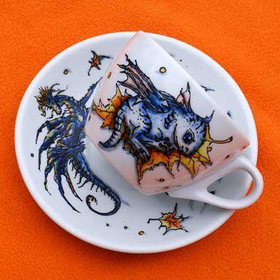 Сервизы, чайные пары ручной работы. Ярмарка Мастеров - ручная работа. Купить Твой Дракон всегда с тобой!. Handmade. Дракон
